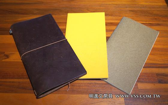 Midori Traveler's Notebook 使用主綁帶綁二本內頁! – 明進文房具