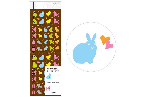 「midori《手帐用贴纸 2013 年款   小动物》」